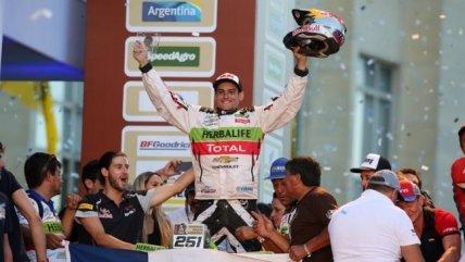 Ignacio Casale celebró su segundo lugar en el podio del Rally ...